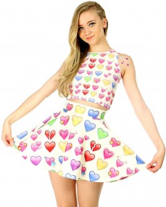 "By the Emoji skater skirt by ""Popsugar.com"""