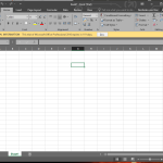 Office 2016 Excel Dark Design