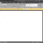 Office 2016 Word Dark Design