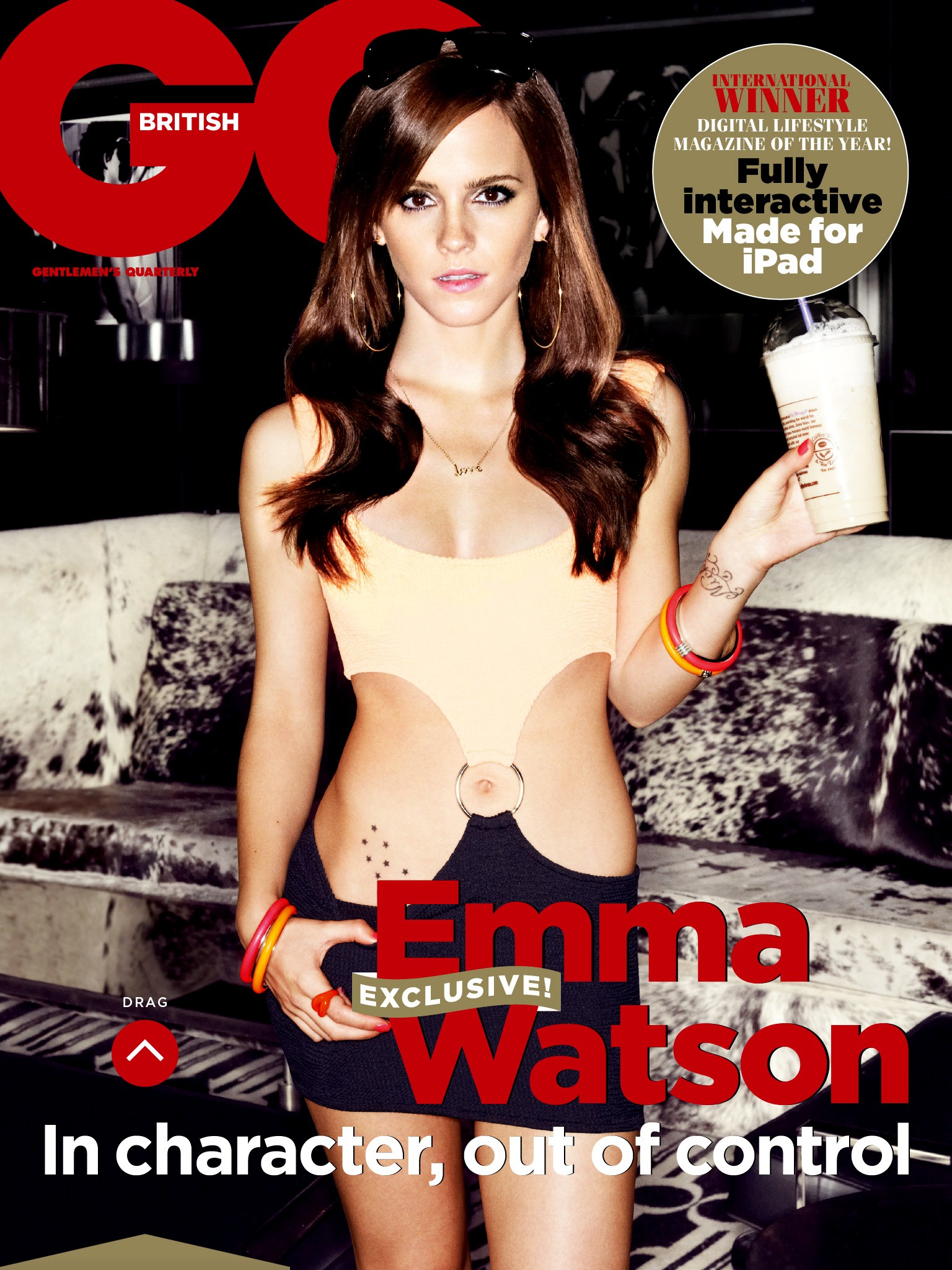 Emma Watson auf dem Cover von GQ UK Mai 2013